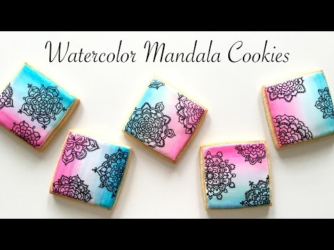 Watercolor Mandala Cookies!
