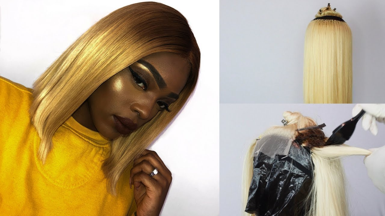 How To Make A Blond 613 Ombre Bob Lace Closure Wig Beaudiva Hair