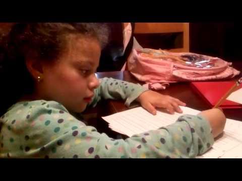 Kindergarten homework nightmare