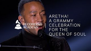 "Watch John Legend Perform ""Bridge Over Troubled Water"" In Tribute To Aretha Franklin"