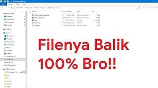 File yang Terhapus Permanen Bisa Kembali 100% dengan Recuva