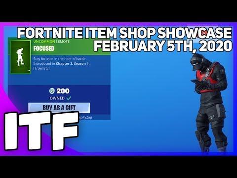 Fortnite Item Shop *NEW* FOCUSED EMOTE! [February 5th, 2020] (Fortnite Battle Royale)