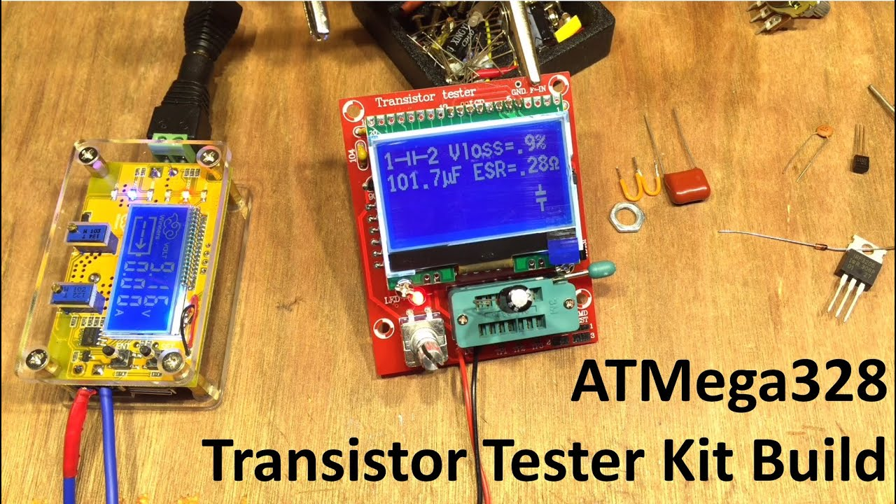Atmega328 Transistor Tester Build  U0026 Test