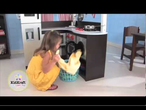 KidKraft Grand Espresso Corner Kitchen 53271 - YouTube