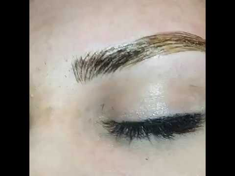 MICROBLADED FUSION BROWS done at #Xcessoreyes in Nanaimo , Vancouver Island