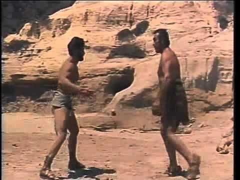 Hercules Unchained Steve Reeves fight scene Anteas