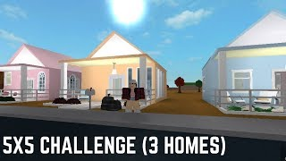 Roblox: Welcome to Bloxburg | 5x5 Challenge (3 Homes!)
