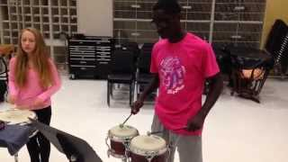 Percussion Class Laying Down a Beat