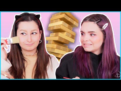 MAKEUP JENGA 💀 Die Krasseste Makeup Challenge! ⚠️😂 Unlikely