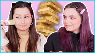 MAKEUP JENGA 💀 die krasseste Makeup Challenge! ⚠️😂 unlikely