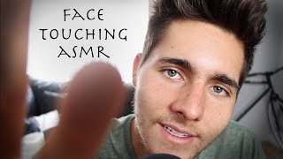 ASMR Close-Up Face Touching, Mouth Sounds, and Hand movements for Sleep
