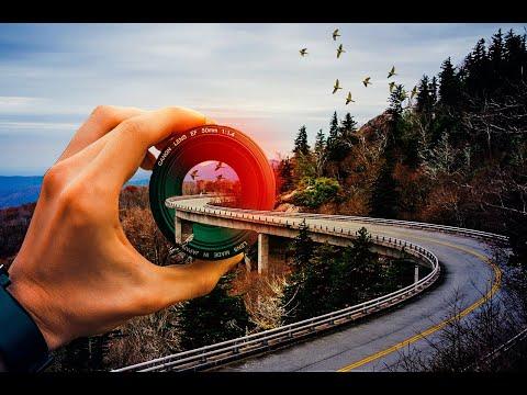 Road Inside The Lens _ Photoshop Manipulation  Tutorial  Graphic Genie