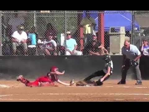 Awesome Catcher Diving Collision @ Plate  Pick Off TCS World