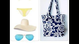 видео Пляжные сумки. Отдыхаем, загораем, о летней сумке не забываем!