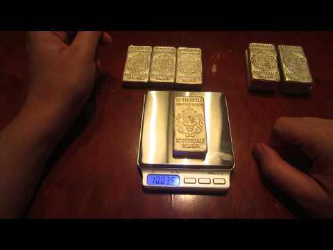 Scottsdale Silver Poured Bars - Do They Weigh the Right Amount?