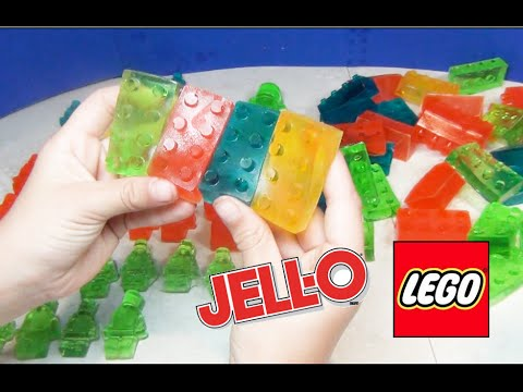 Make LEGO Jello Gummy Candy Pieces with LEGO Blocks ...