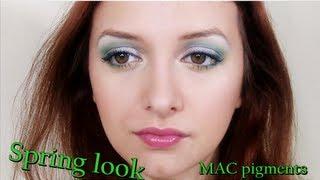 Machiaj de primavara cu pigmenti MAC