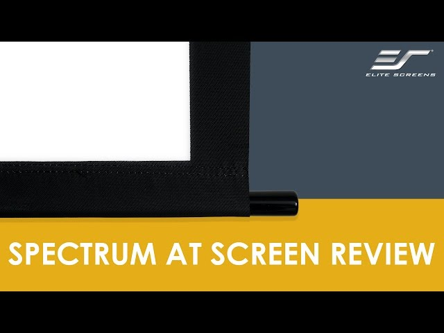 Elite Screens Spectrum AT (Acoustically Transparent) Projection Screen Review