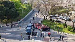 Chegada adeptos (caixa PSP) Benfica a Alvalade