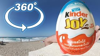 World's First Unboxing in 360° at the Beach Kinder Surprise Egg Thailand
