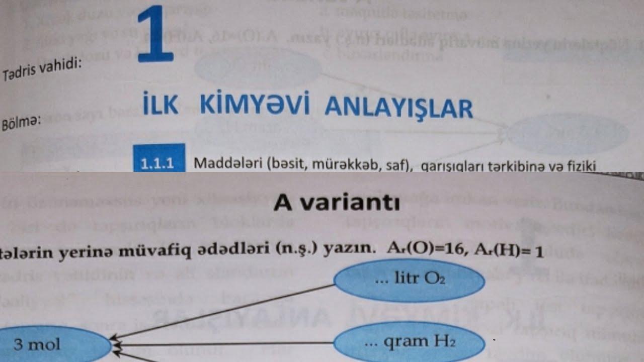 Kimya DİM 7ci sinf İlk anlayislar A varianti