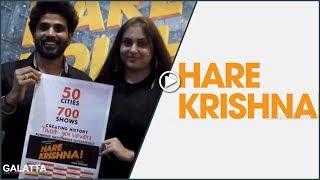 Actress Namitha & Veera in Hare Krishna Documentary Premier Show