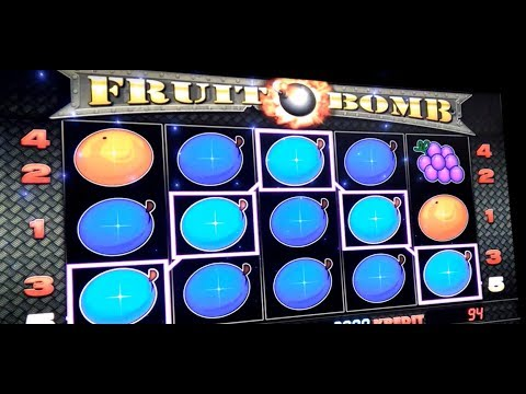 Live play on Fruit bomb slot machine - NICE WIN!!!