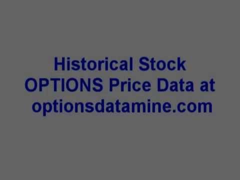 historical stock option price data