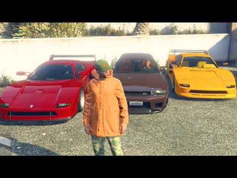 GTA 5 ONLINE UPDATE Ferrari F40 Meet/Cruise w/Crew! Funny Moments!