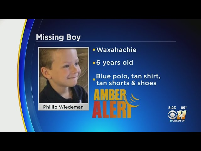 Amber Alert Issued For Missing Waxahachie 6-Year-Old Boy