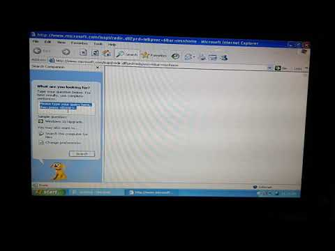 Using The Internet Explorer On A 13 Years Old Windows Xp Laptop