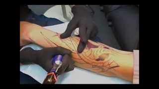 Tattoo Time-Lapse Biomechanical Session 1 - feat Joey Ellison of Infinite Art Tattoo Studio