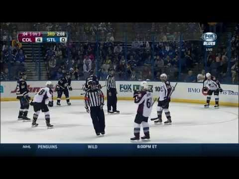 Line brawl in 3rd. Fight. Colorado Avalanche vs St. Louis Blues 4/5/14 NHL Hockey.