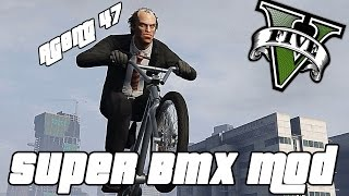 GTA V PC - Super BMX Stunts ! ft. Agent 47 (Funny Moments Gameplay)
