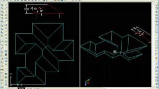 How To Make Complicated Sloped Roof In Autocad 3d - Easily