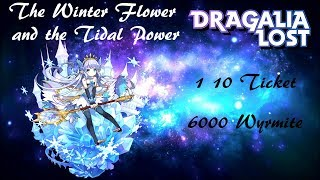 [Dragalia Lost] The Winter Flower and the Tidal Power 1 10 Ticket and 6000 Wyrmite Scout
