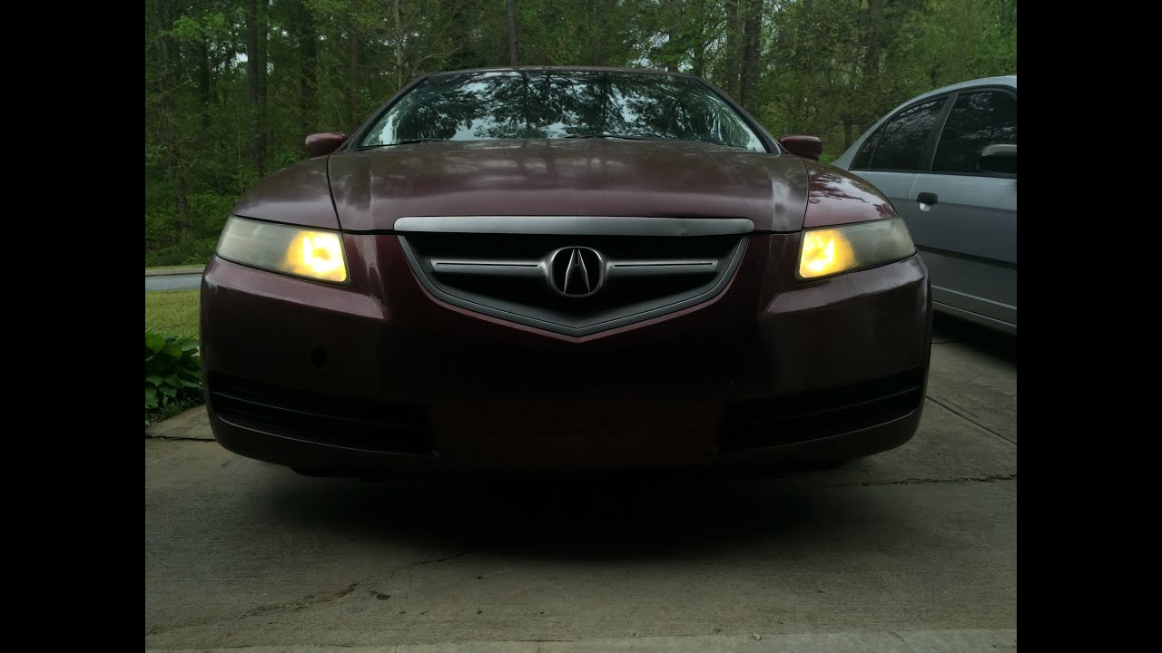 04 06 acura tl independent fog lights with stock switch [ 1280 x 720 Pixel ]