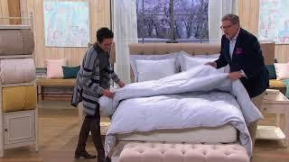 Amadeus 100% Cotton Woven Jacquard Down Comforter on QVC