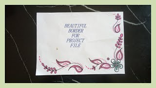 Project File Decoration Design   Sport Videos DIY    Simple  Easy   Decorative Border Design For Project File    Back