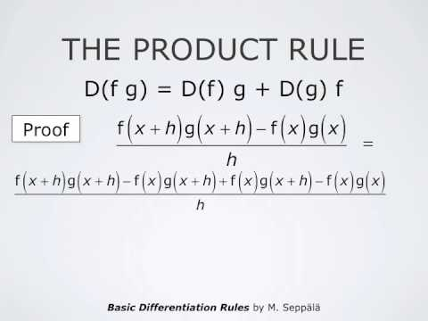 Basic Derivative Rules