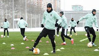 Тренировка Краснодара перед матчем с Динамо Загреб