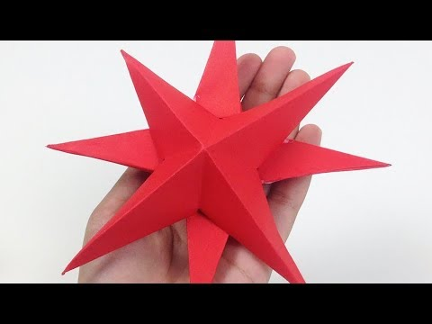 How to Make Simple & Easy 3D Paper Stars Not Origami | 3D Paper Stars Instructions - EasyCrafts DIY