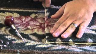 Bonded Insert in low pile patterned carpet