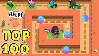 TOP 100 Funny Moments in Brawl Stars !! CHEATER vs NOOB !!