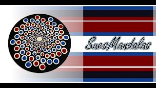How To Paint Dot Mandalas - Spiral dot mandala - video164 - Sue Sloan