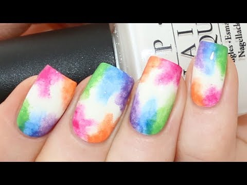 Easy Watercolor Nail Art Tutorial For Beginners