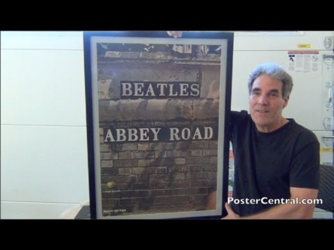 Beatles' Abbey Road Promo Poster 1969 Apple Records