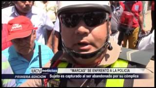 MARCAS SE ENFRENTARON A LA POLICÍA - UCV NOTICIAS PIURA