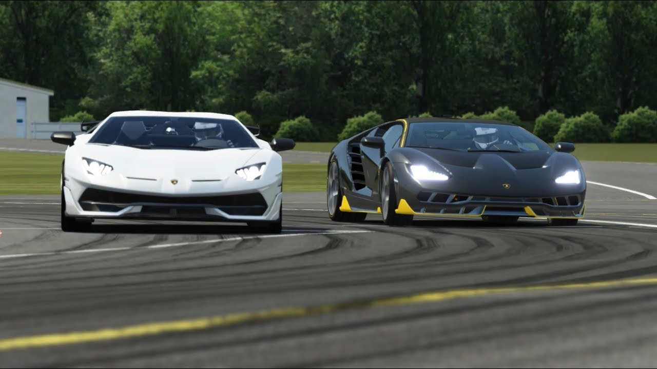 Lamborghini Centenario Vs Lamborghini Svj At Top Gear Youtube