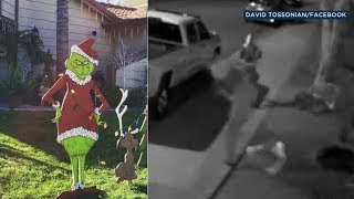 Grinch stolen from Christmas display in Riverside | ABC7